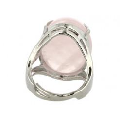 bague cabochon quartz rose trendy