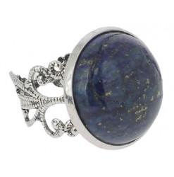 bague lapis lazuli cabochon