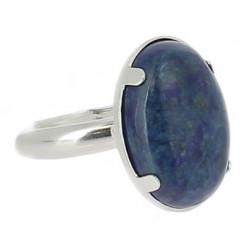 bague lapis lazuli sur argent