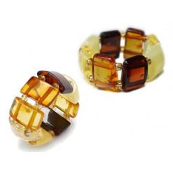 bague gemme ambre