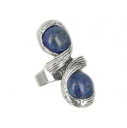 bague lapis lazuli cabochons infiny