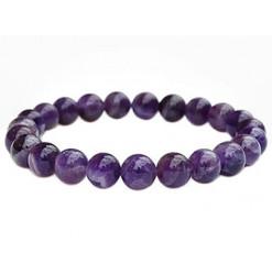 bracelet améthyste perles de pierres naturelles