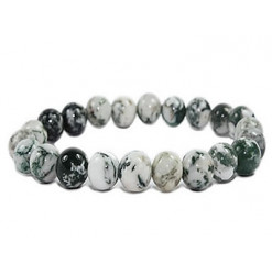 bracelet perles d'agate arbre