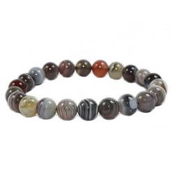 bracelet agate de botswana perles pierres