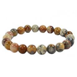 bracelet perles pierre agate crazy lace