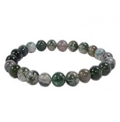 agate mousse bracelet pierre perle