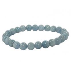 bracelet aigue marine perles de pierre