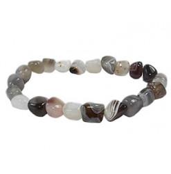 agate de botswana bracelet pierres roulées