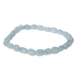 aigue marine bracelet pierres roulées