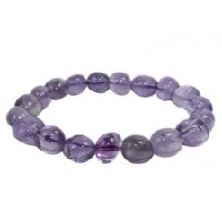 améthyste bracelet pierres roulées