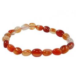 bracelet pierres roulées cornaline