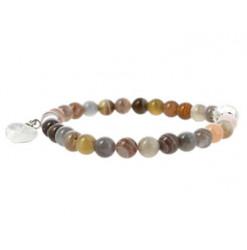 bracelet en agate de botswana
