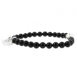 agate noire bracelet pierre