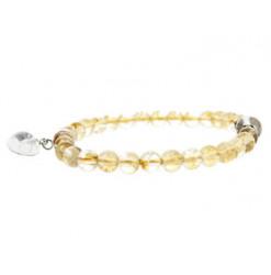 citrine bracelet et coeur de cristal de roche