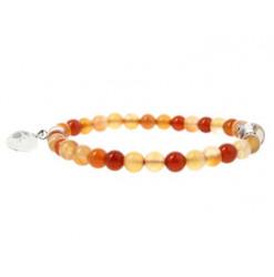 bracelet en cornaline et cristal de roche