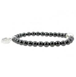 hématite et cristal de roche bracelet