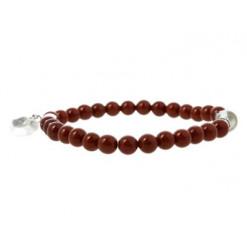 bracelet en jaspe rouge avec coeur