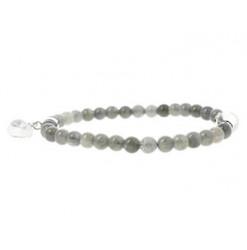 labradorite bracelet avec coeur cristal de roche