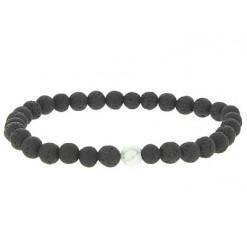bracelet yin yang pierre de lave