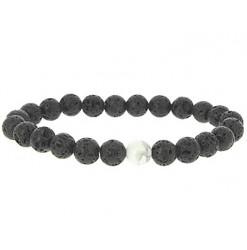 bracelet lithothérapie yin yang