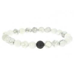 bracelet lithothérapie howlite yin yang