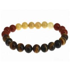 bracelet signe du lion en perles naturelles