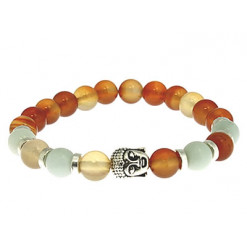 bracelet cornaline et amazonite