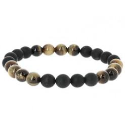 bracelet oeil de tigre et agate noire