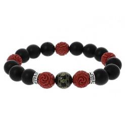 bracelet dark star perles de pierre