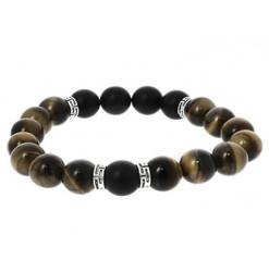 bracelet perles agate et oeil de tigre