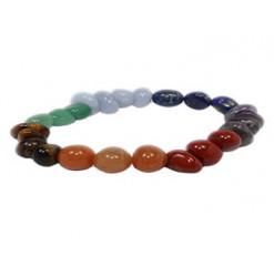 bracelet 7 chakras pierres roulées