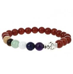 bracelet 7 chakras et cornaline