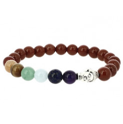 bracelet jaspe rouge 7 chakras
