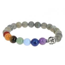 bracelet 7 chakras et labradorite