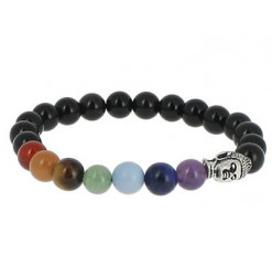 bracelet 7 chakras obsidienne oeil céleste