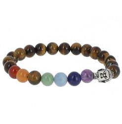 oeil de tigre bracelet 7 chakras