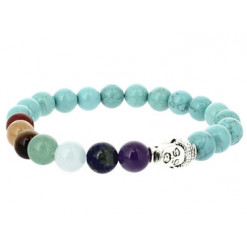 bracelet 7 chakras et turquoise