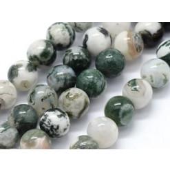 perles pierre agate arbre rondes