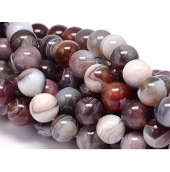 agate de botswana perles pierre naturelle