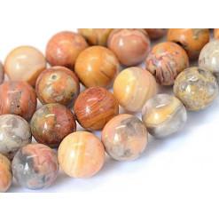 perles d'agate crazy lace rondes percées