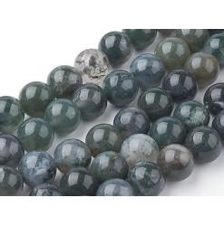 perles pierre agate mousse
