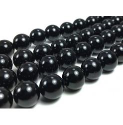agate noire perle percée