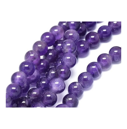 améthyste perles de pierre naturelle