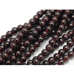 perles de grenat rouge
