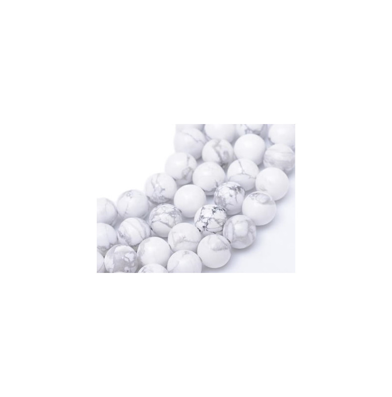 perles pierre howlite