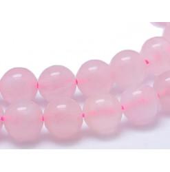 perles percées de quartz rose