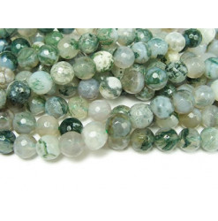 perles facettées agate arbre