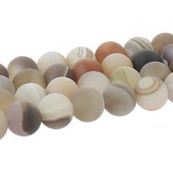 perles givrées agate de botswana
