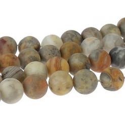 agate crazy lace perles givrées
