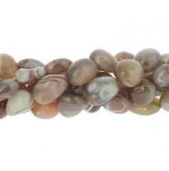 perle pierre roulée agate de botswana
